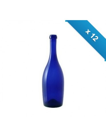 Bottiglia mod. Collio - 12 pz - blu - senza logo