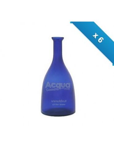 Bottiglia mod. Viola - 6 pz - blu - con logo H2O