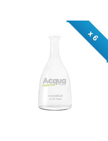 Bottiglia mod. Viola - 6 pz - trasp - con logo H2O