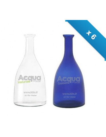 Bottiglia mod. Viola - 6 pz - miste - con logo H2O