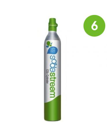 Cilindro CO2 per Sistema Sodastream - Wassermaxx - 6 pezzi