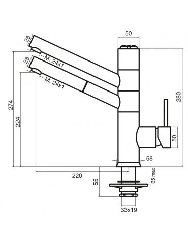 5-way faucet - electronic - Model: 9180