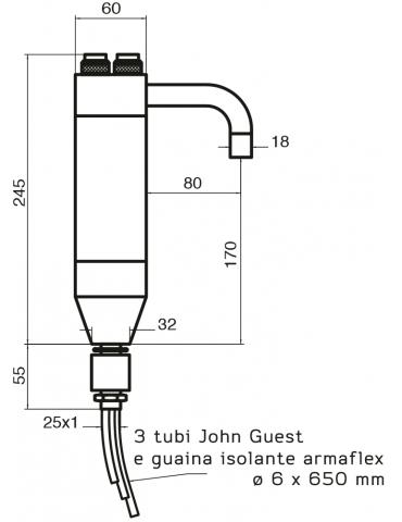 3-way tap - mechanical - Model: Trix RD