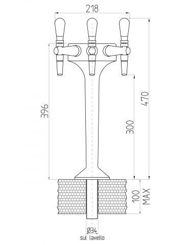 3-way tap - mechanical - Model: Antares