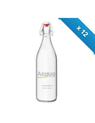 Bottiglia mod. Giara - 12 pz - Nat - con logo H2O