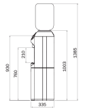 Refrigeratore d'acqua a boccione - Avant HWG