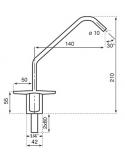 Rubinetto 2 vie - meccanico - Modello: 2602