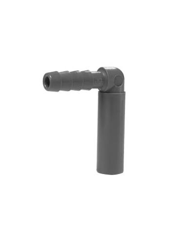 "Elbow hose tail shank-internal hose 5/16 ""-1/4"""
