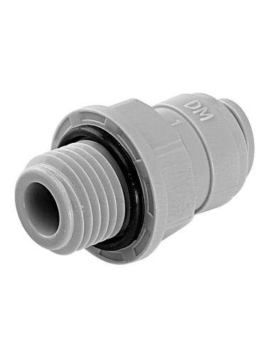 """Terminale diritto tubo- filett cilindrica BSP(P) 1/4"""" X 1/8"""