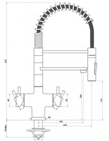Rubinetto 5 vie - 5680ML-TB