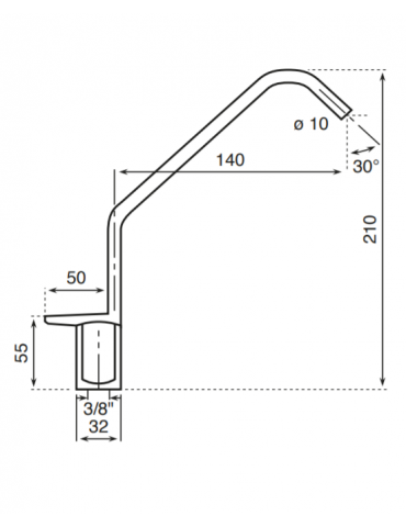 1 way tap - mechanical - Model: 2610