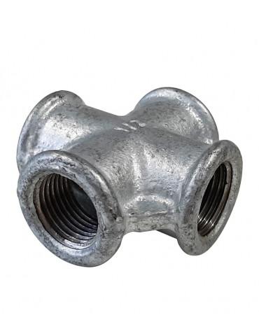 "Cross fitting 1/2 ""- galvanized cast iron"