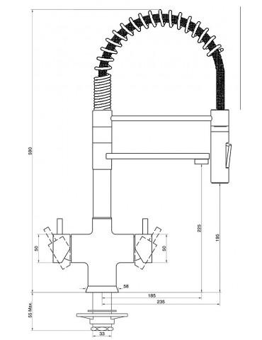 5 ways tap - mechanical - Model: 5680 ML