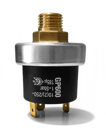 "Maximum pressure switch (29-72.52 psi / 2-5 bar) 1/4 """
