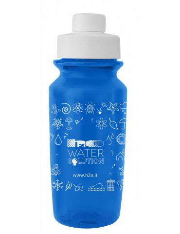 Walk Bottle Blue 500 ml - with H2O logo