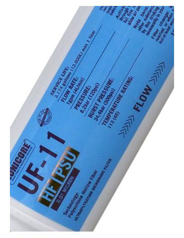 "Inline Ultrafiltration (UF) 1/4 ""2.5"" x11 ""Ionicore"