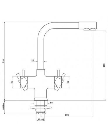 5-way mechanical tap - 5680