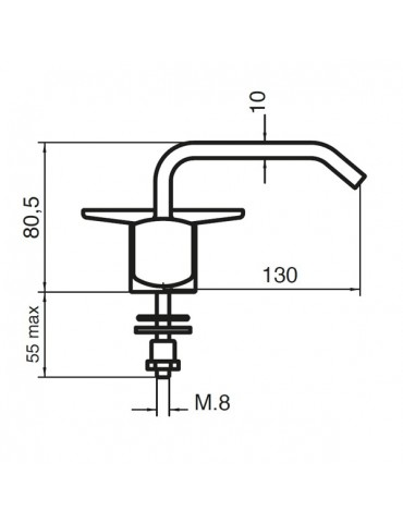 3-way tap - for window installation - Model: 2603W
