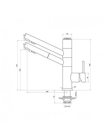 5-way faucet - 9180 2G - electronic